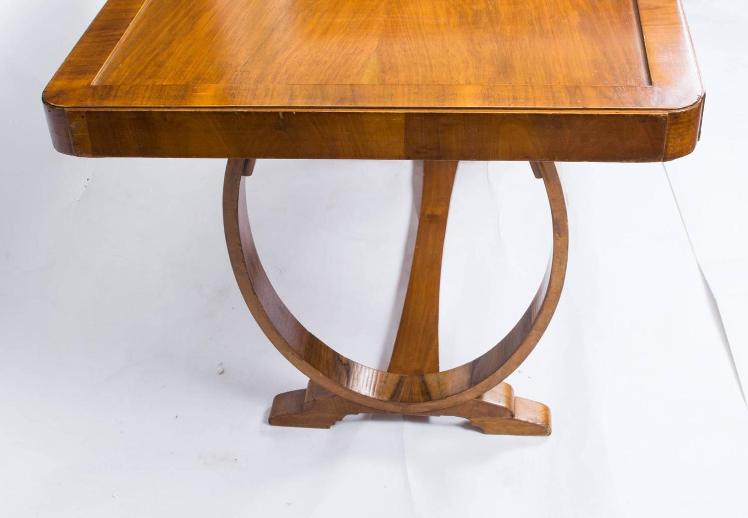 Antique Art Deco Dining Table And Six Chairs Circa 1930 For Sale At