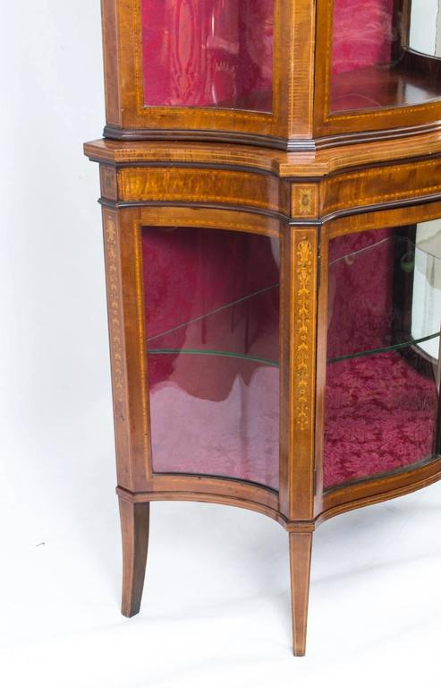 Early 20th Century Edwardian Inlaid Display Cabinet In Excellent Condition For Sale In London, GB