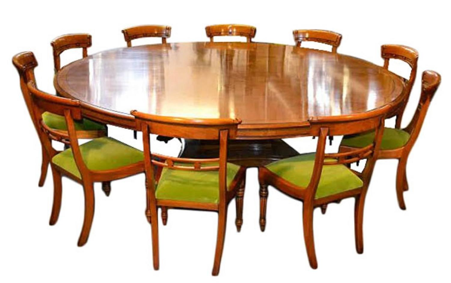Vintage regency round pollard oak dining table for sale at Round dinner table for 10