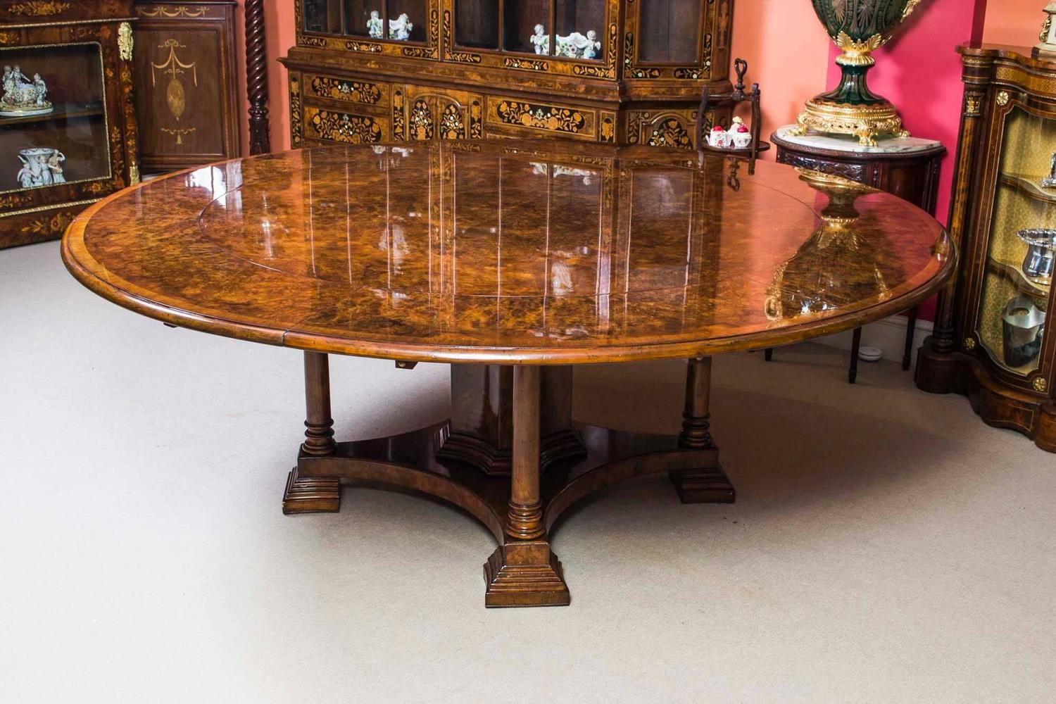 Stunning burr walnut jupe dining table for sale at 1stdibs for 10 ft dining table sale