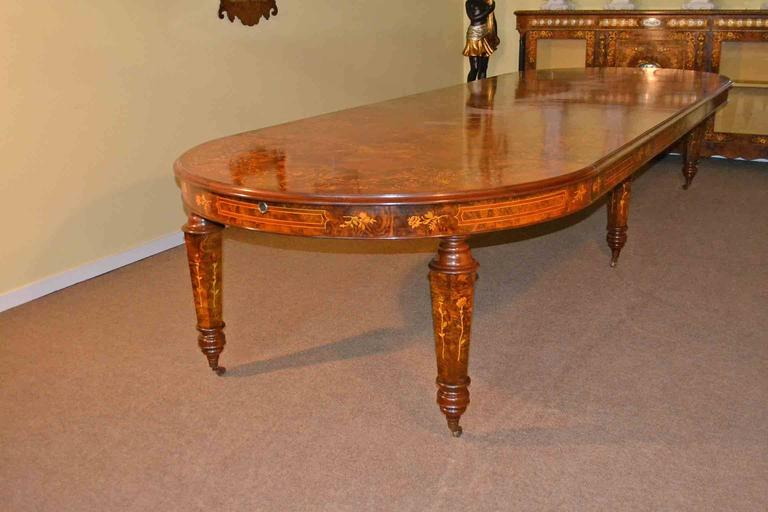 Gorgeous Victorian Style Burr Walnut Dining Room