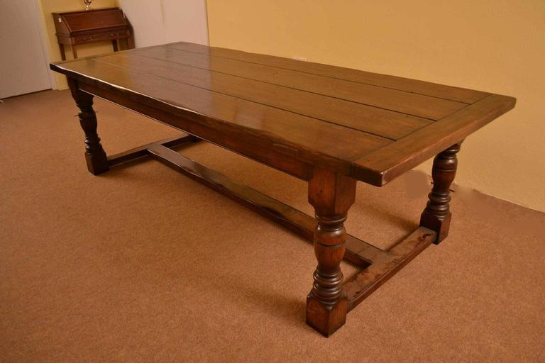 Vintage English Solid Oak Refectory Dining Table 8 Ft 6 X 3ft At 1stdibs