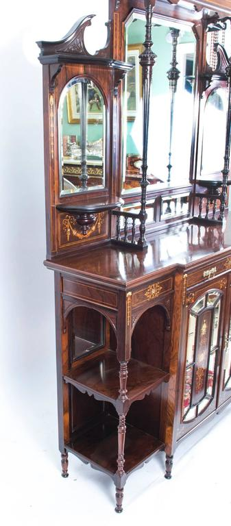 Antique edwardian inlaid rosewood cabinet for sale for 1890 kitchen cabinets