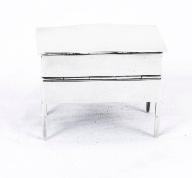 English Antique Sterling Silver Novelty Box by Asprey's, 1909 For Sale