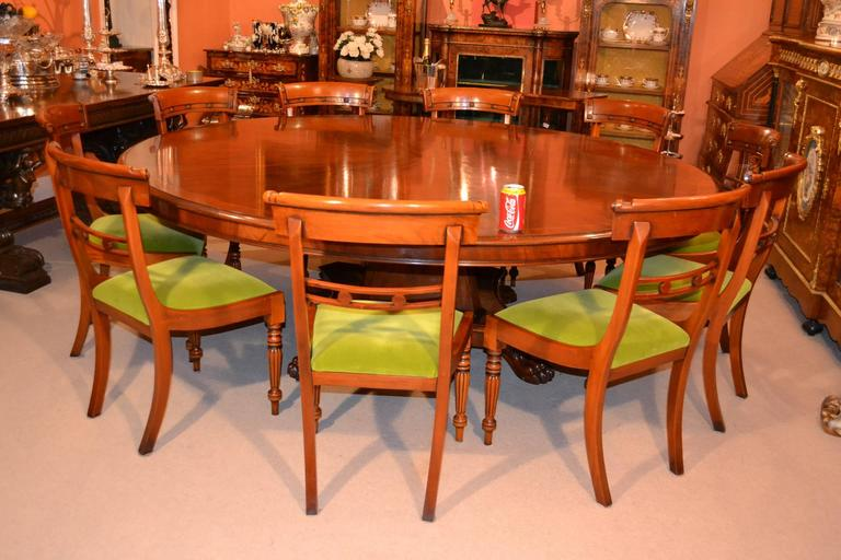 Vintage regency mahogany dining table for sale at 1stdibs for 10 ft dining table sale
