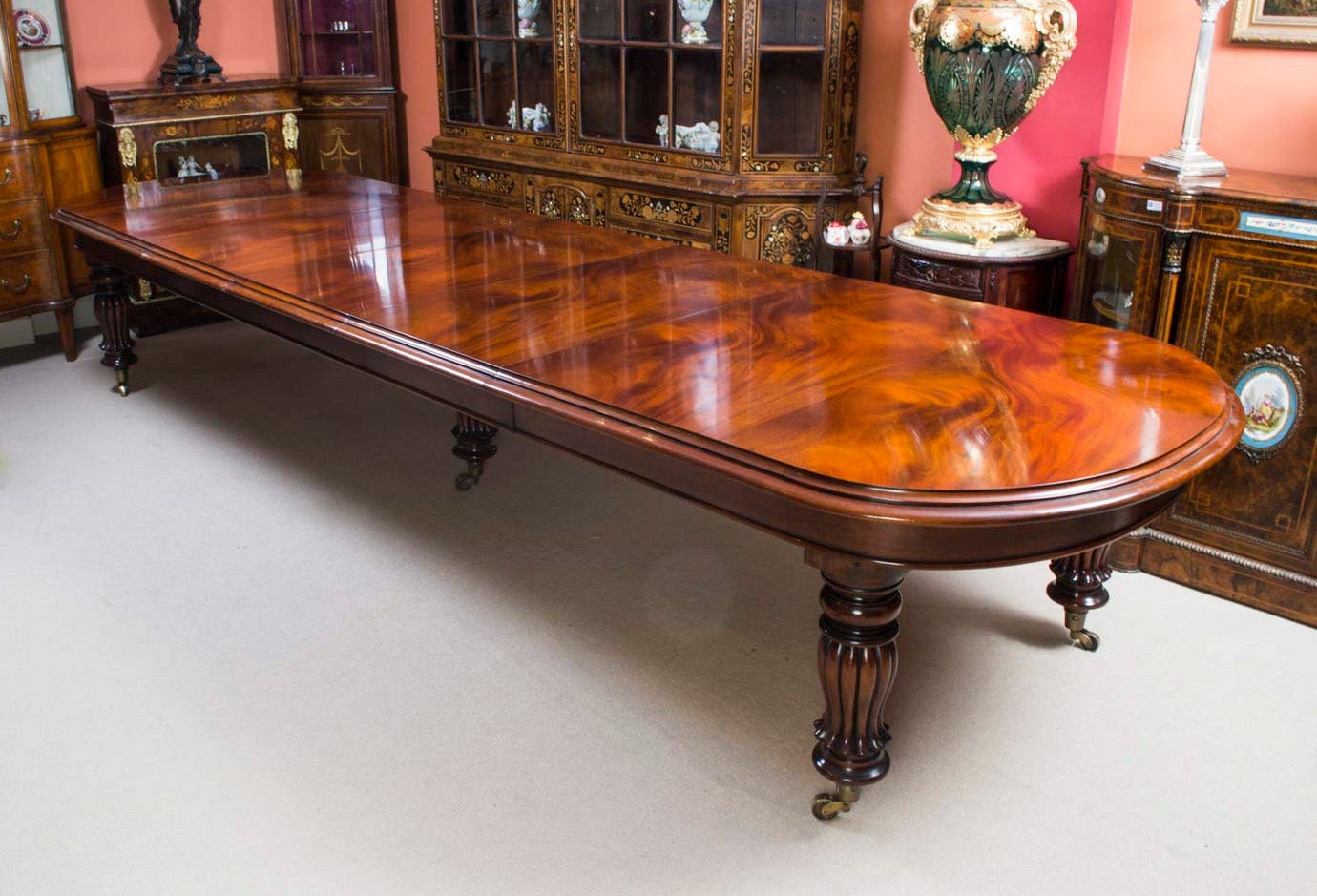 Vintage Victorian D End Dining Conference Table At Stdibs - 15 foot conference table