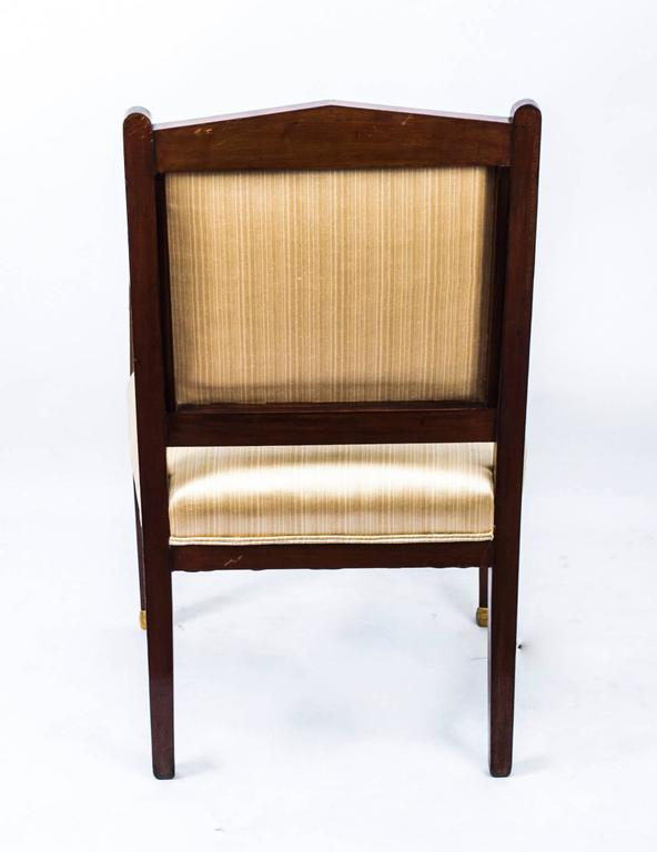 Antique French Empire Revival Mahogany Three-Piece Salon Suite  19th C For Sale 4