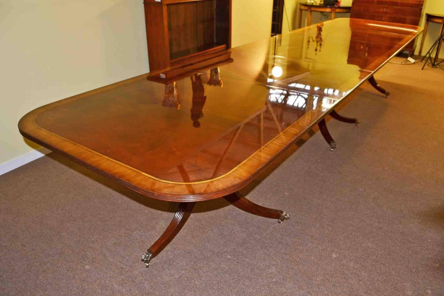 Regency dining table flame mahogany crossbanded for sale for 10 ft dining table sale