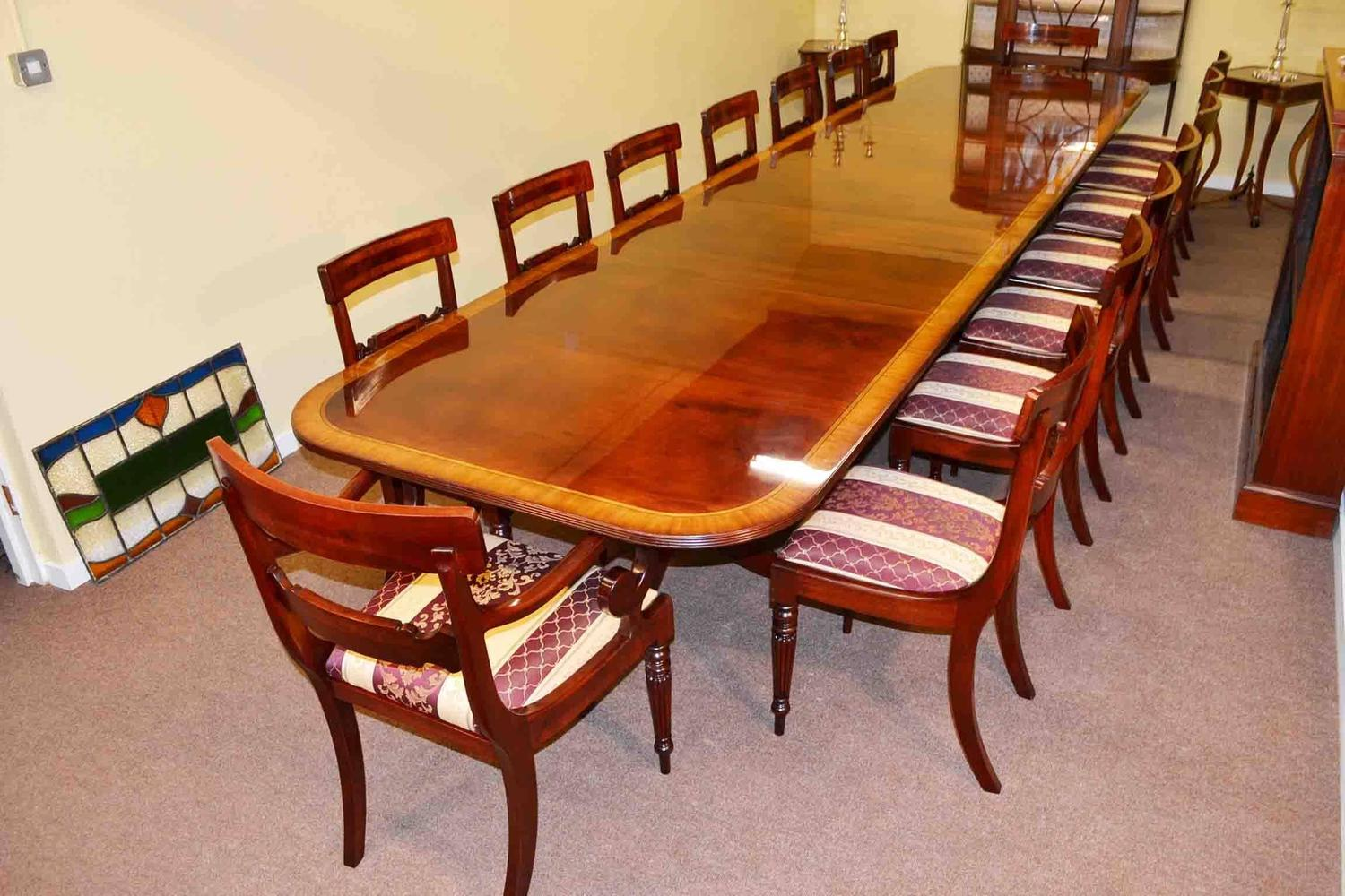 Regency Dining Table And Chairs Flame Mahogany At Stdibs - 16 foot conference room table