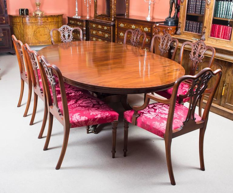 Vintage Dining Table and Eight Chairs by Arthur Brett & Sons For Sale 5