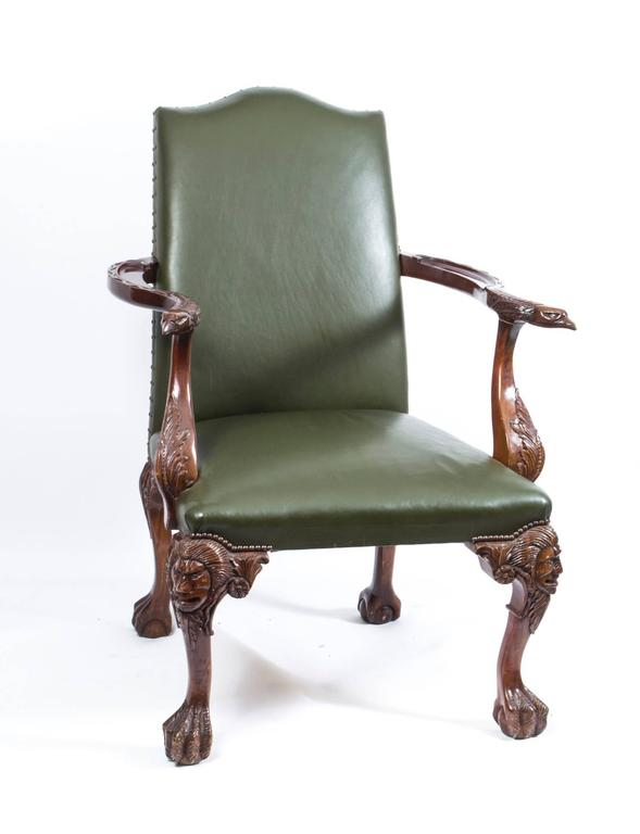 Antique Pair of Eagles Leather Library Chairs Armchairs C1920 2Antique Pair of Eagles Leather Library Chairs Armchairs C1920 For  . Antique Library Armchairs. Home Design Ideas
