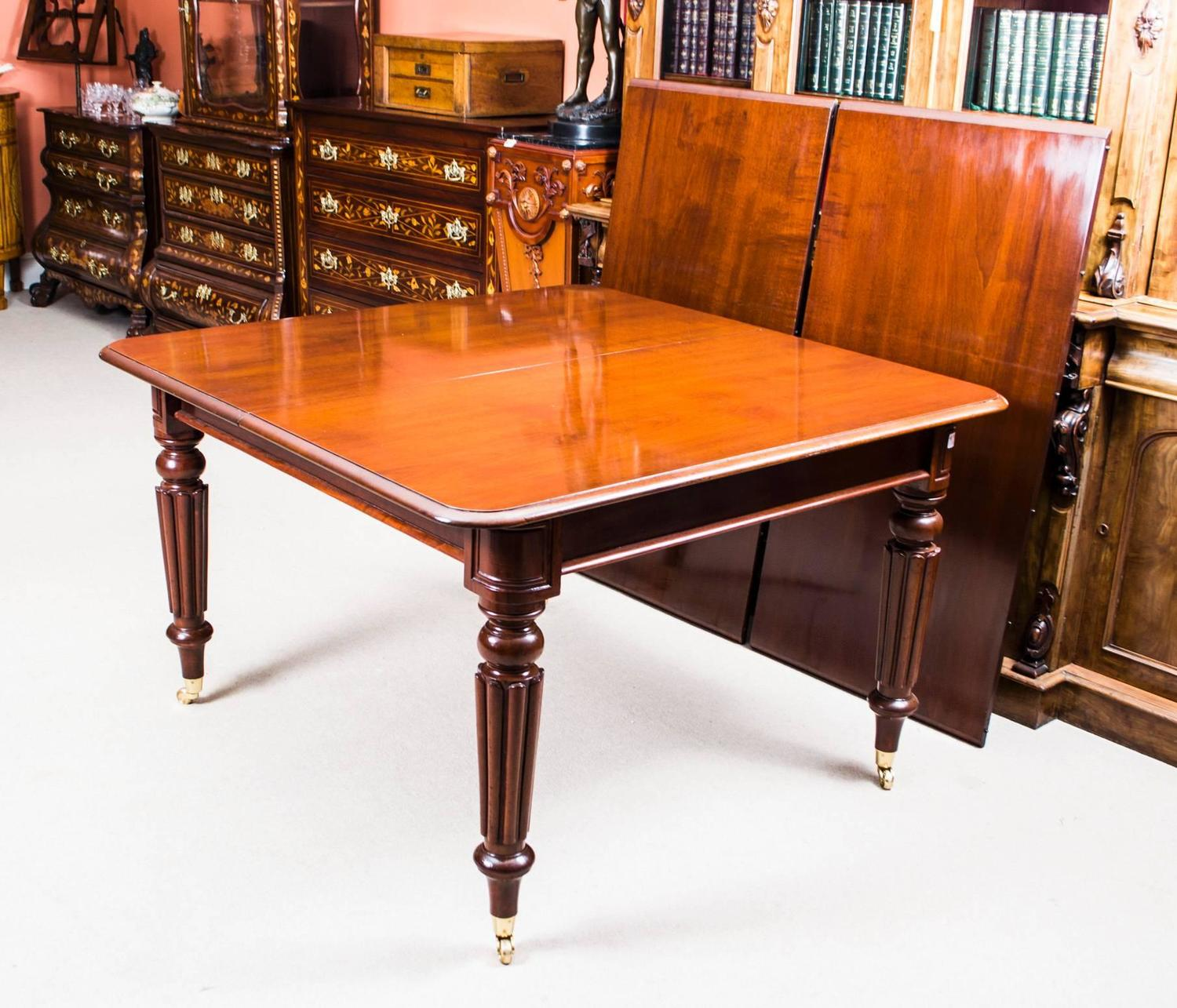 Antique Regency Mahogany Dining Table Manner Of Gillows Circa 1820 At 1stdibs