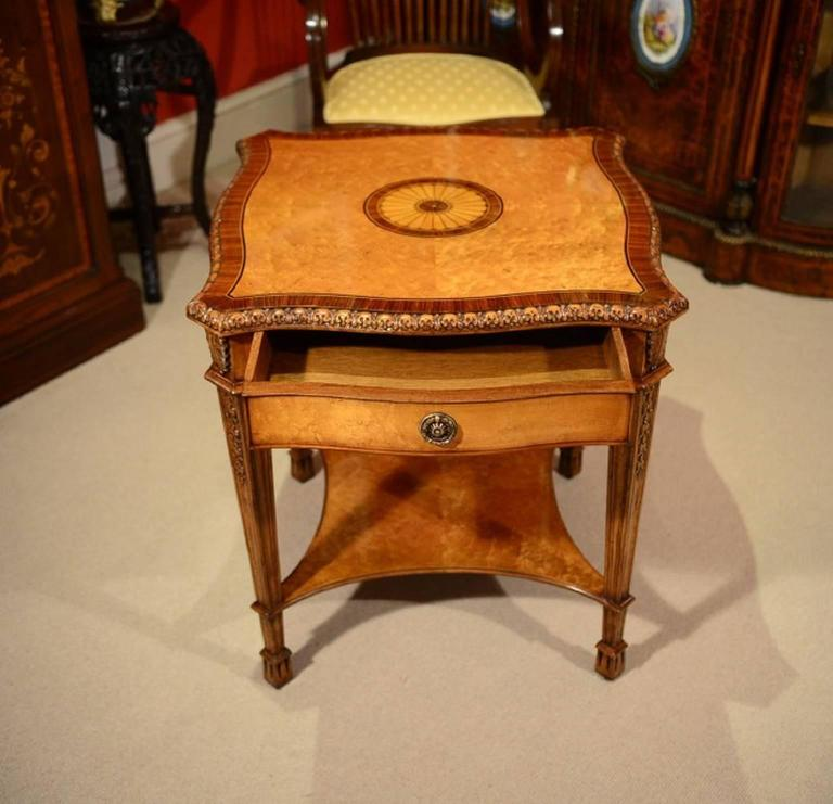 Stunning Bird's-Eye Maple Coffee Table And Pair Of Side