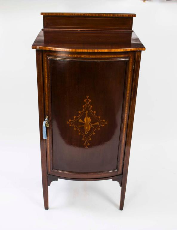 Antique pair of edwardian mahogany music cabinets circa for 5 gorgeous pairs for antique white cabinets