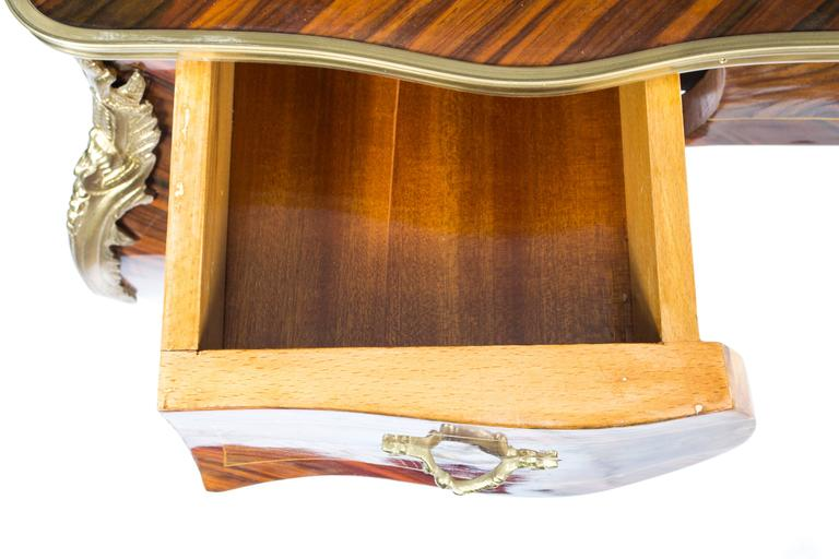 Louis Xvi Revival Burr Walnut Bureau Plat Writing Table