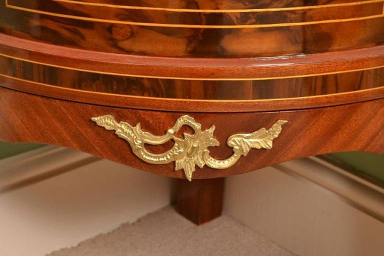 Louis Xvi Style Mahogany Glass Corner Display Cabinet At