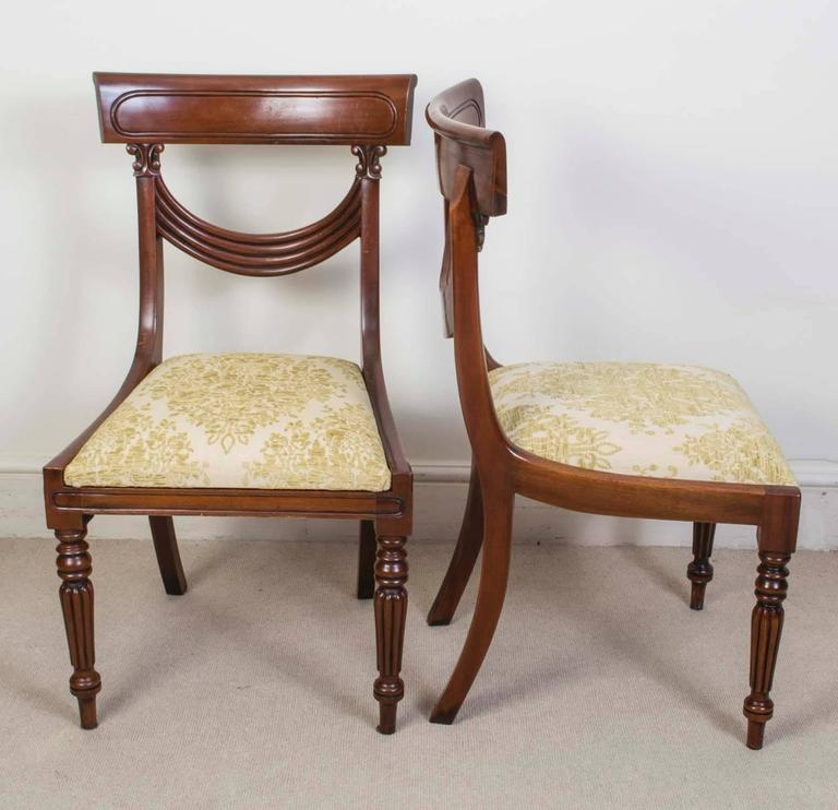 Superb Regency Style Dining Chairs Swag Back Set Of 12 For Sale At 1stdibs