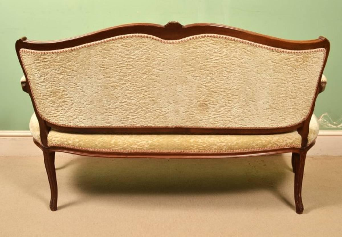 Antique French Walnut Sofa Or Settee Circa 1900 For Sale At 1stdibs