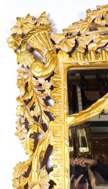Vintage Huge 8ft Decorative Rectangular Giltwood Mirror