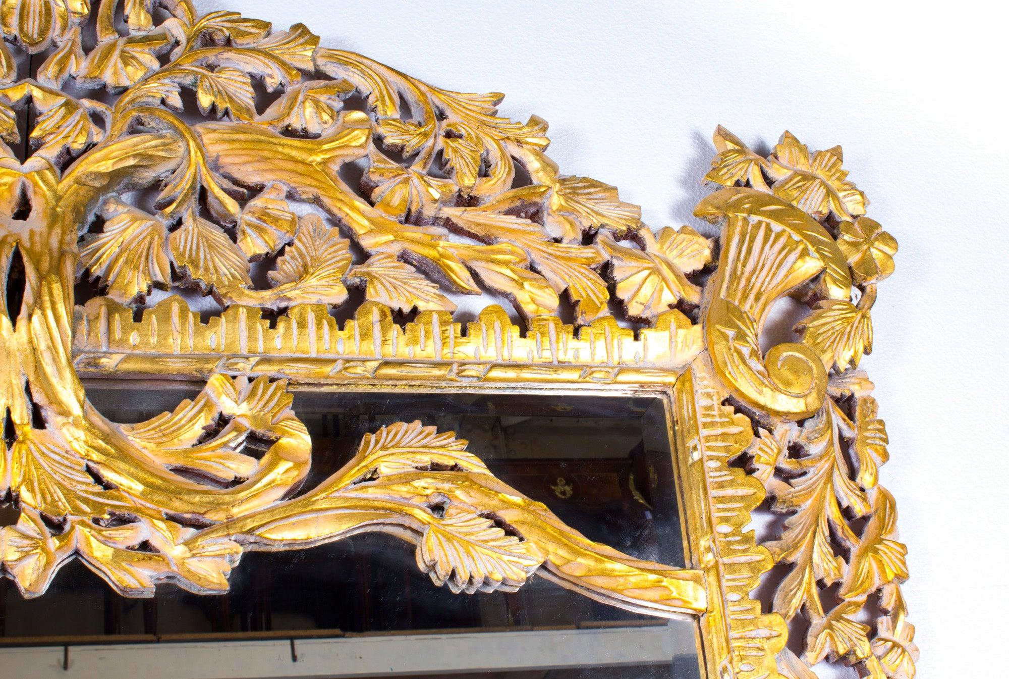 Vintage Huge 8FT Decorative Rectangular Giltwood Mirror For Sale at ...