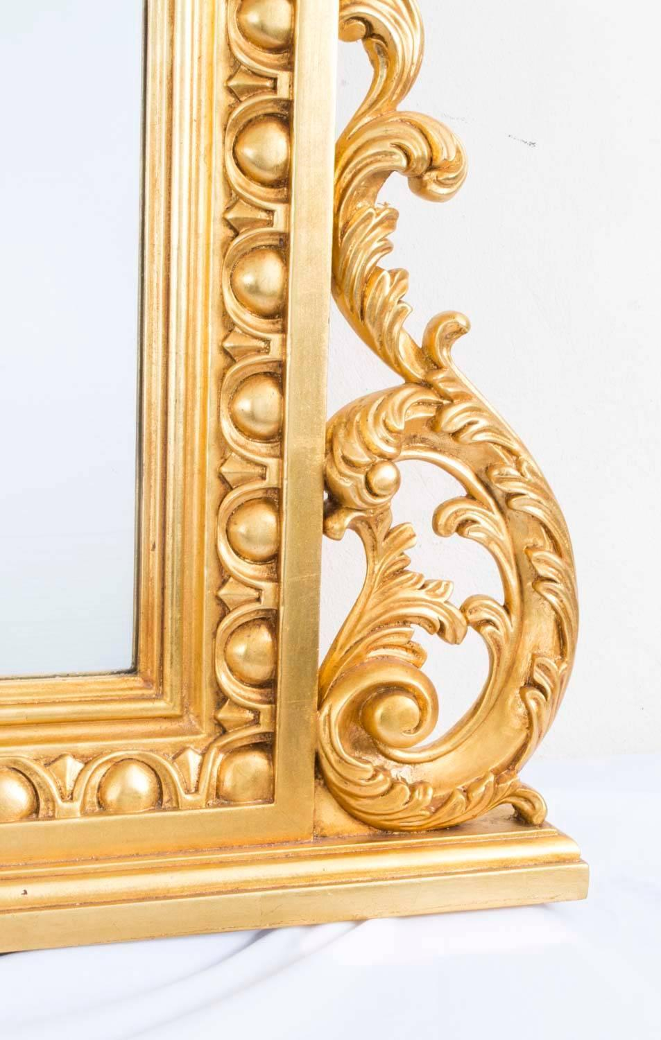 Decorative large ornate italian florentine mirror for sale Large wooden mirrors for sale