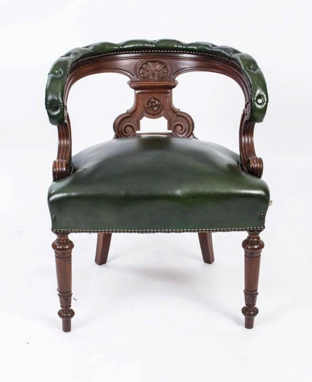 Ordinaire This Is A Very Comfortable Antique Victorian Desk Chair Circa 1870 In Date.  It Is