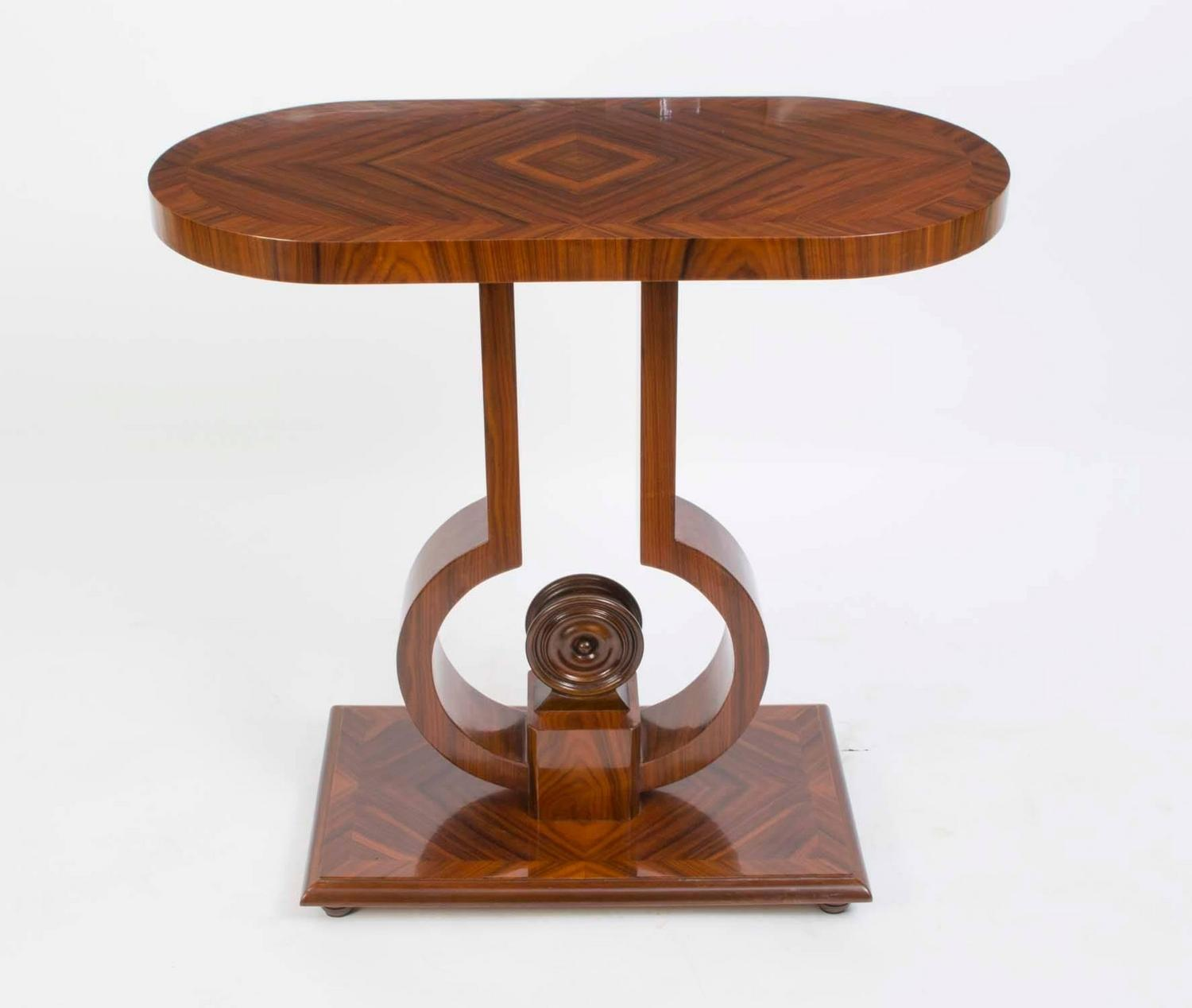 Elegant art deco style rosewood console side table for for 10 inch depth console table