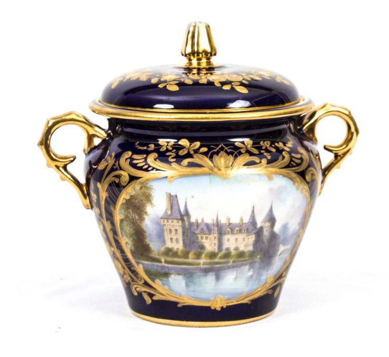 Antique French Sevres Porcelain Cabaret Set Circa 1900 At