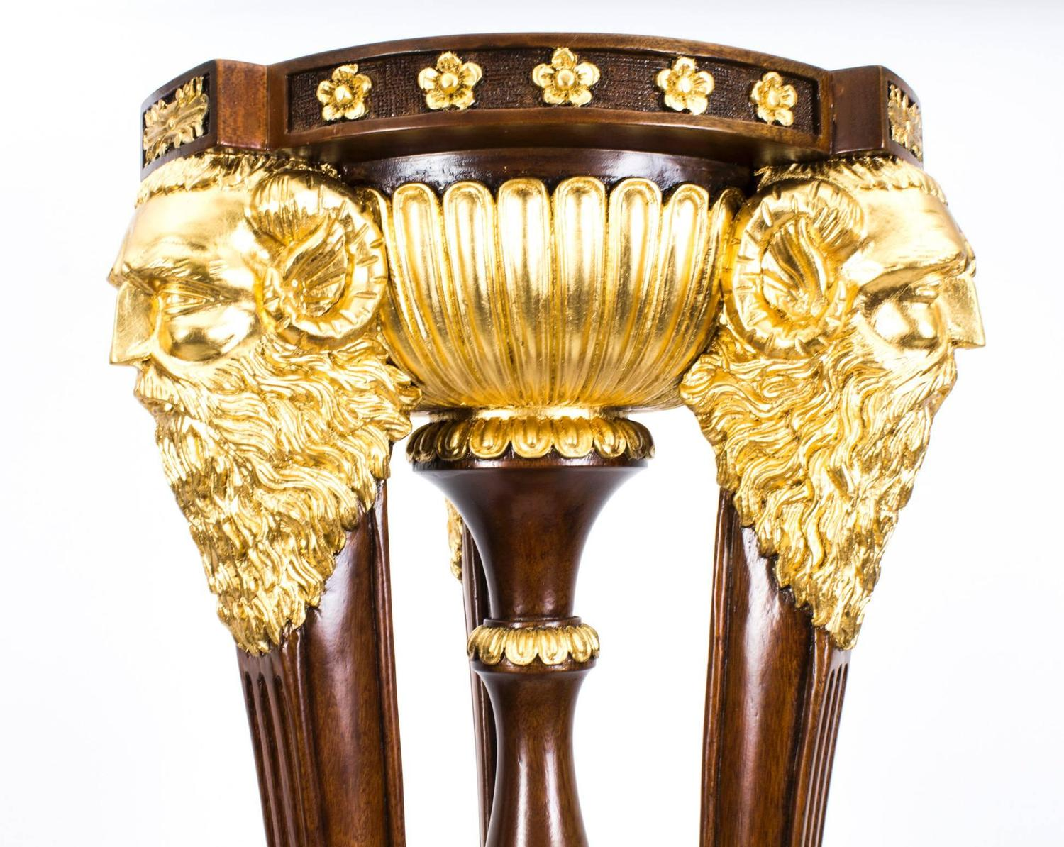 Monumental pair of empire style giltwood torcheres for for 183 cm in feet and inches