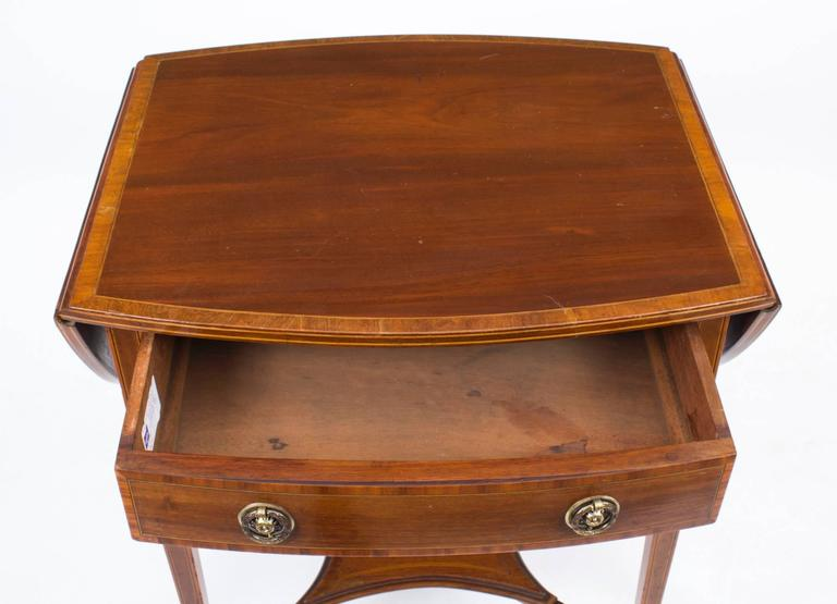 antique edwardian drop flap occasional side table  circa 1900 at 1stdibs