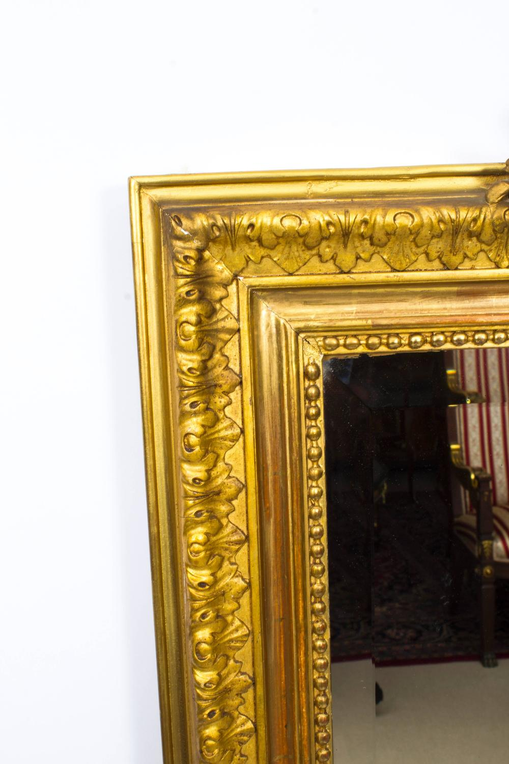 Antique french giltwood overmantel mirror circa 1860 for for Mantel mirrors
