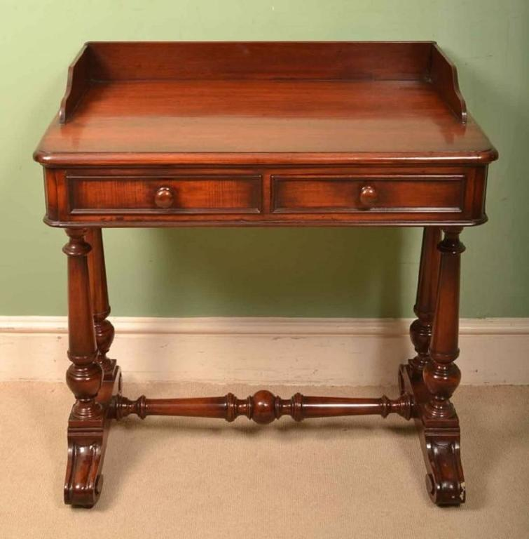 this antique small victorian mahogany writing table circa 1860 is no