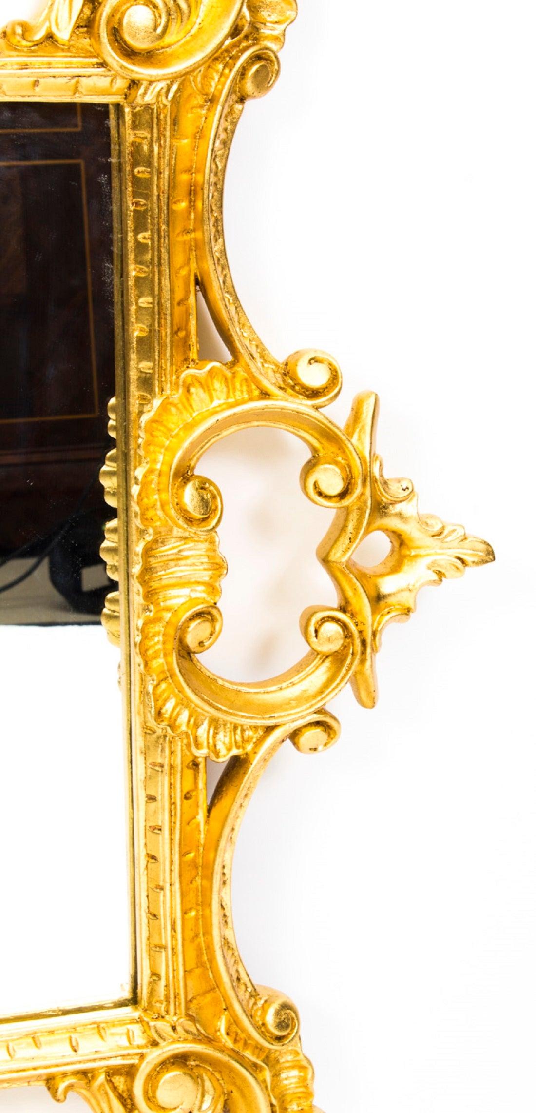 Superb Decorative Italian Giltwood Decorative Mirror For Sale at 1stdibs