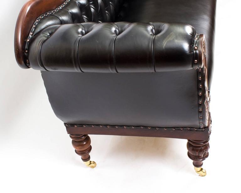 Antique William Iv Mahogany And Leather Sofa Circa 1830