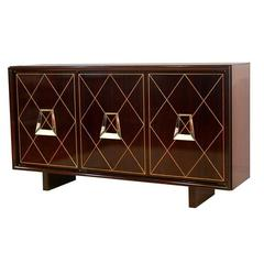 Incised Diamond Front Credenza