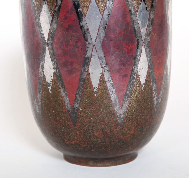 Claudius Linossier French Art Deco Dinanderie Vase In Excellent Condition For Sale In New York, NY