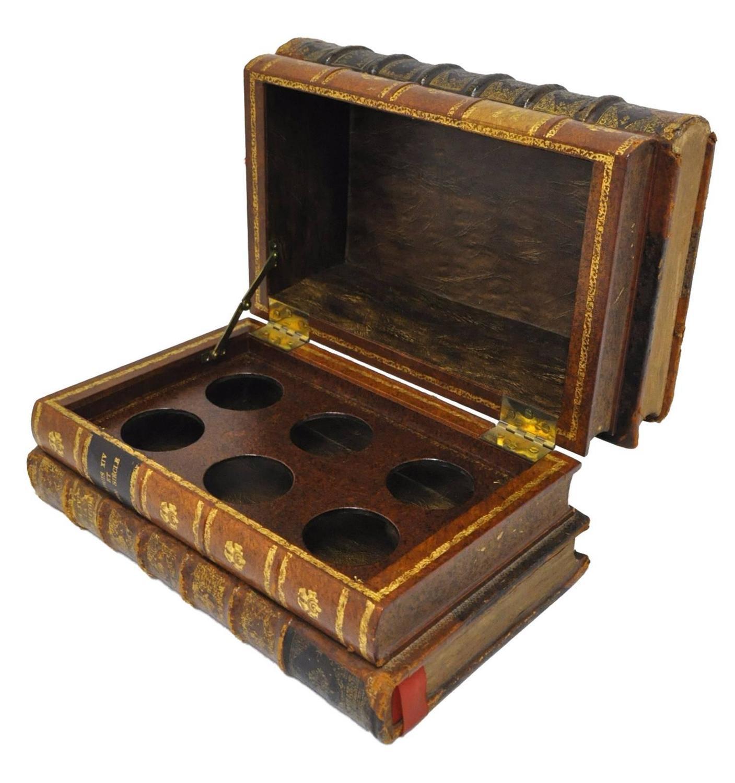 Decorative Boxes Shaped Like Books : Th century french liquor box shaped like four
