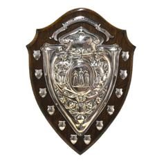 Vintage English Shield with Silver Plated Decor