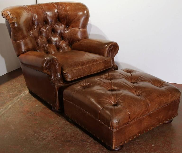 Beau This Exquisite Brown Leather Armchair Is A Ralph Lauren Classic From 1970.  The Masculine Armchair