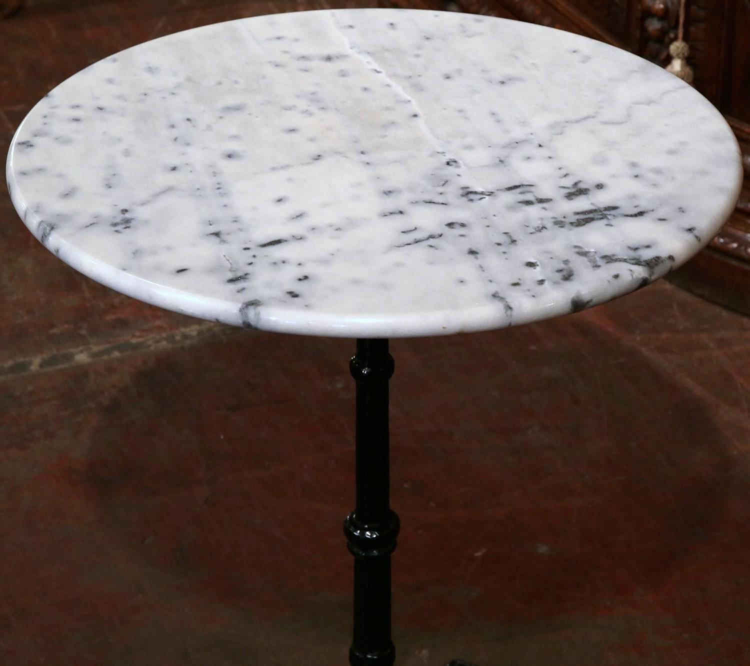 Early 20th Century Iron Pedestal Bistro Table From Paris