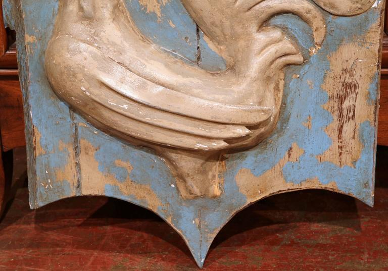 18th Century French Painted and Tole Sign with Rooster 1