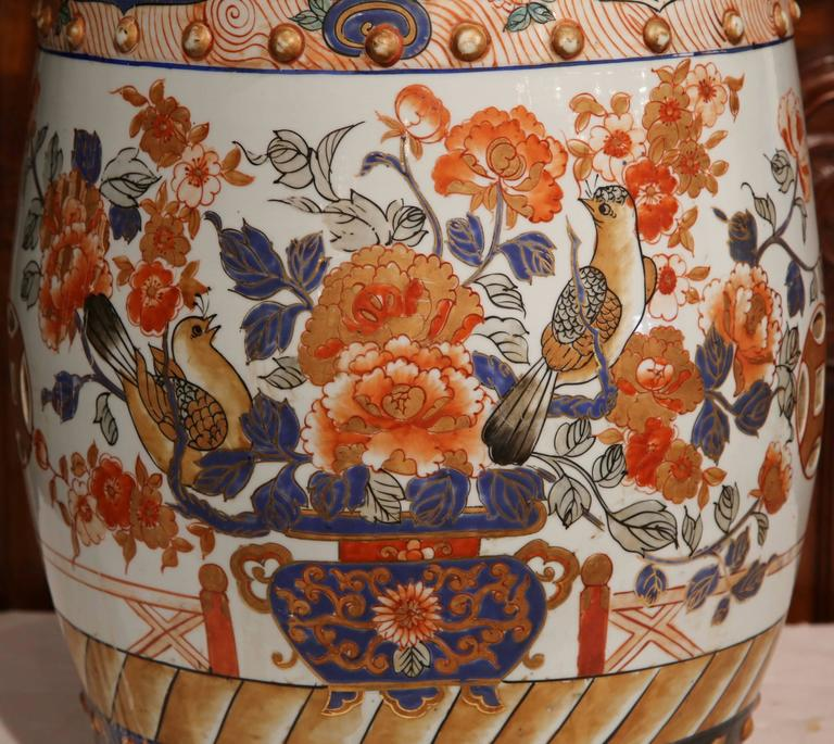 19th Century Japanese Hand Painted Porcelain Imari Stool