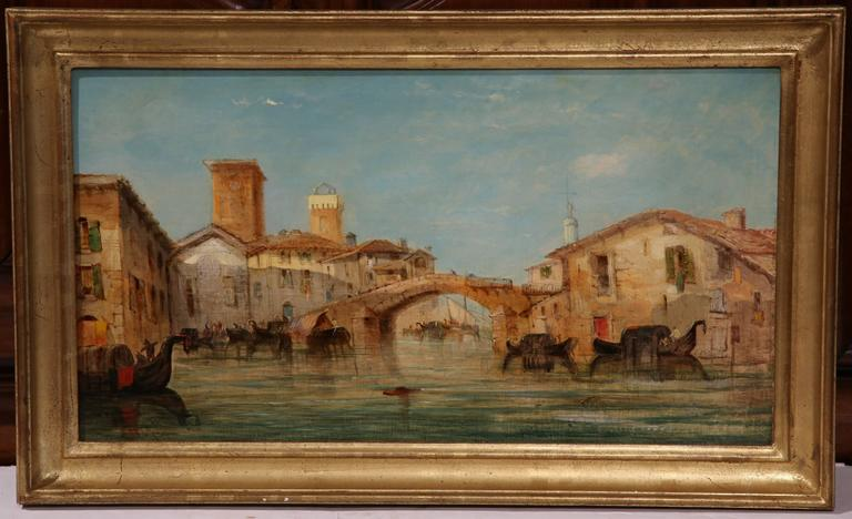 Pair Of 19th Century Venice Oil Paintings Signed W Knell