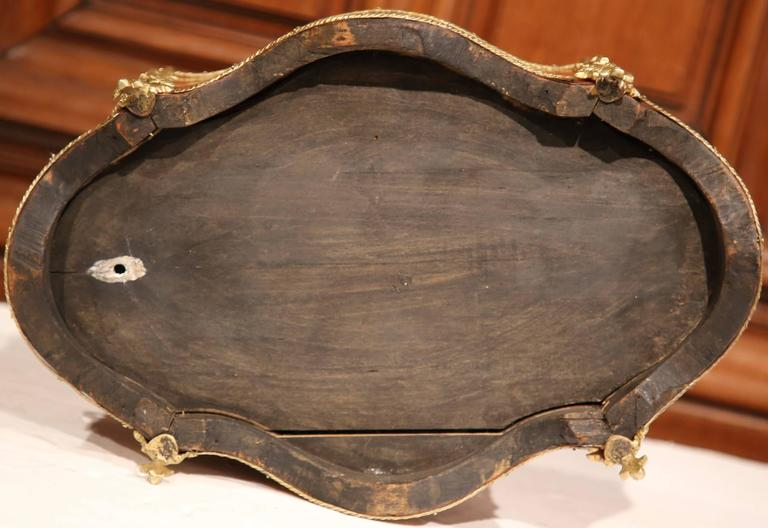 19th Century French Oval Rosewood Jardinière with Marquetry and Bronze Mounts For Sale 5