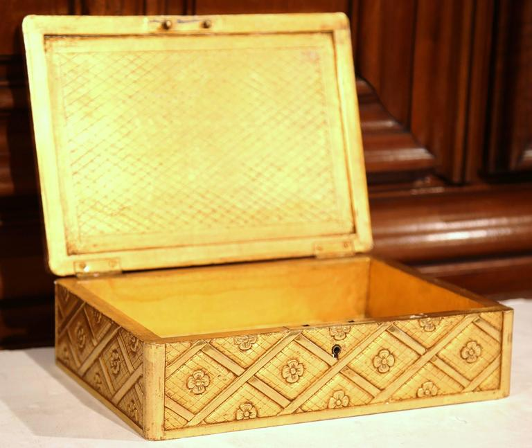 19th century french carved wooden jewelry box with gilt for 19th century french cuisine