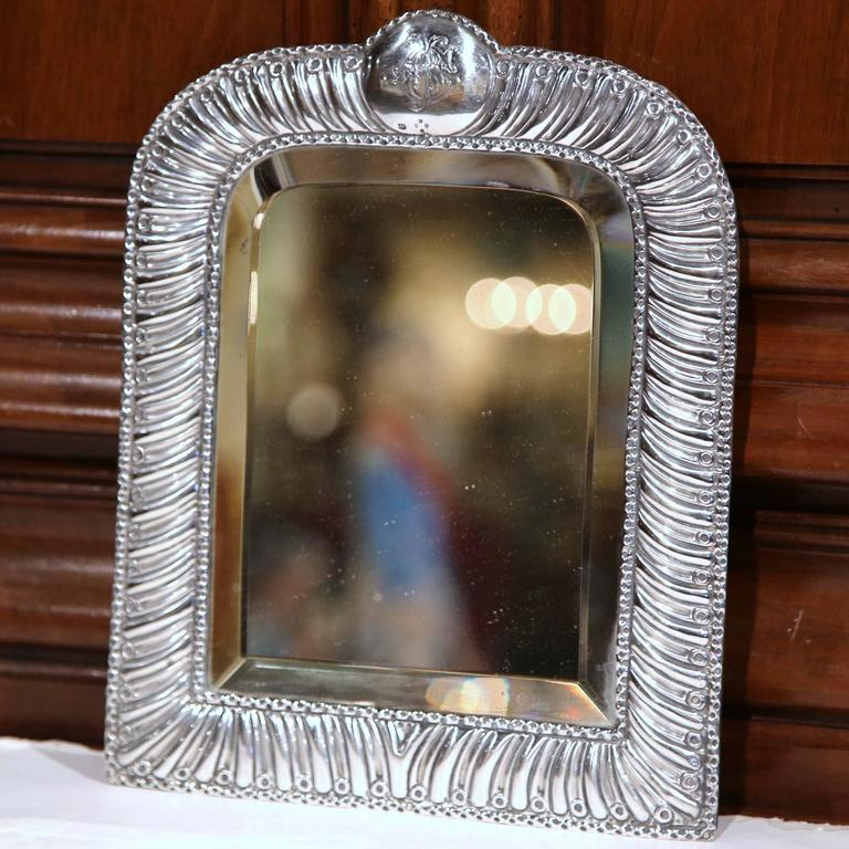 19th Century French Repousse Silver Table Frame With
