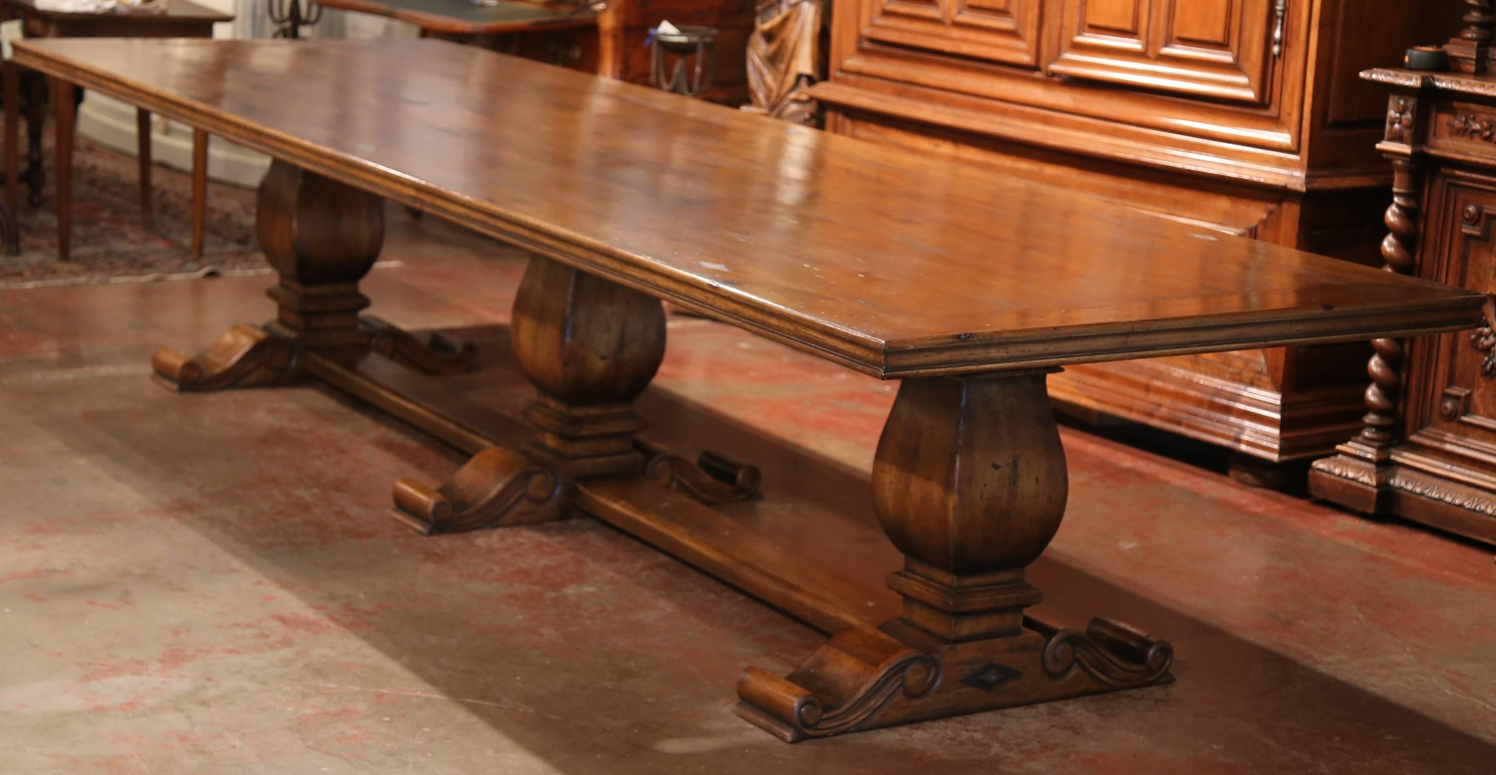 Fill A Large Dining Room With This Monumental Farm Table Made From Old  Walnut Wood.