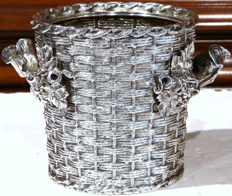 Victorian 19th Century, English, Silver Plated Wine Cooler Signed George Richmond Collins For Sale