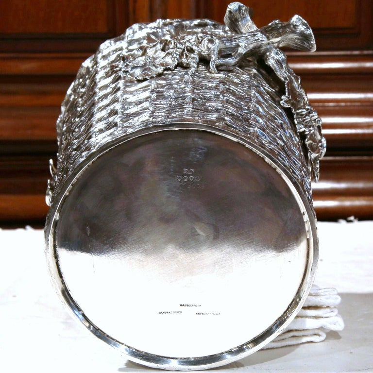 19th Century, English, Silver Plated Wine Cooler Signed George Richmond Collins In Excellent Condition For Sale In Dallas, TX