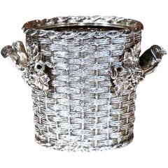 19th Century, English, Silver Plated Wine Cooler Signed George Richmond Collins